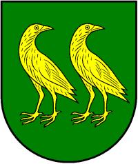 Užliedžių seniūnijos herbe pavaizduotos griežlės.