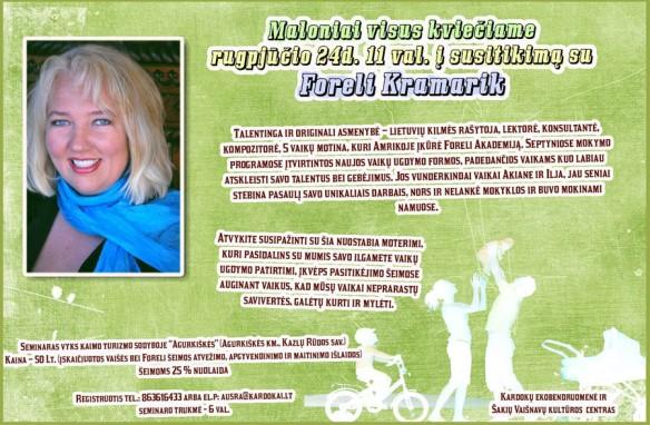 susitikimas su Foreli Kramarik