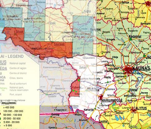 Kudirkos-Kybartų plotas, kuriame išduota licencija žvalgyti ir naudoti skalūnų angliavandenilius, apima nemažą Vilkaviškio rajono dalį, į kurią patenka Kudirkos Naumiestis, Kybartai, Virbalis ir kitos gyvenvietės.